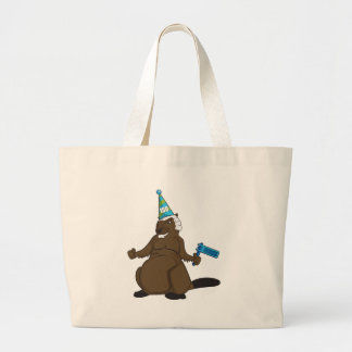 Canada 150 in 2017 Party Beaver Merchandise Large Tote Bag