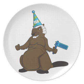 Canada 150 in 2017 Party Beaver Merchandise Party Plates