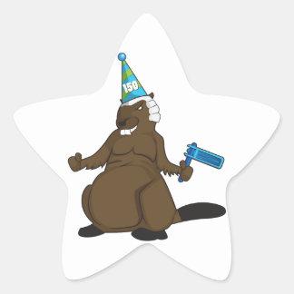 Canada 150 in 2017 Party Beaver Merchandise Star Sticker