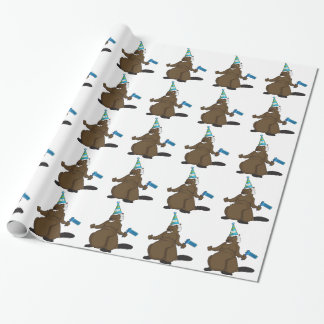 Canada 150 in 2017 Party Beaver Merchandise Wrapping Paper