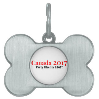 Canada 150 in 2017 Party Like 1867 Pet ID Tag