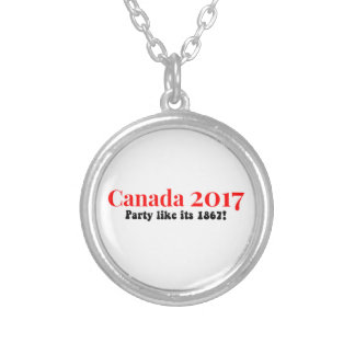 Canada 150 in 2017 Party Like 1867 Silver Plated Necklace