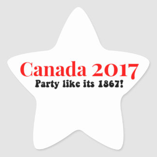 Canada 150 in 2017 Party Like 1867 Star Sticker