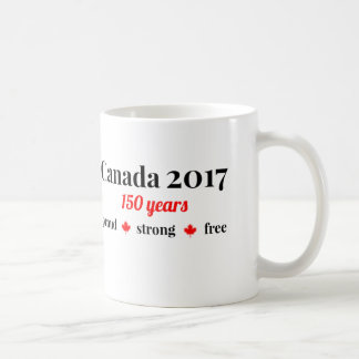 Canada 150 in 2017 Proud and Free Coffee Mug