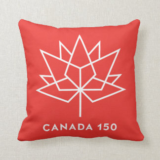 Canada 150 Logo Throw Pillow