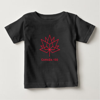 Canada 150 Official Logo - Black and Red Baby T-Shirt