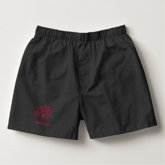 Canada 150 Official Logo - Black and Red Boxers