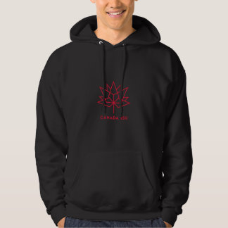 Canada 150 Official Logo - Black and Red Hoodie