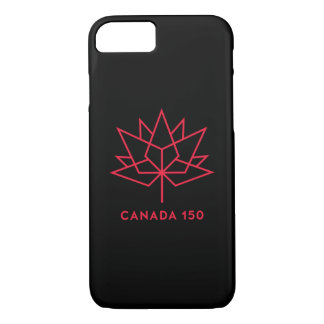 Canada 150 Official Logo - Black and Red iPhone 8/7 Case