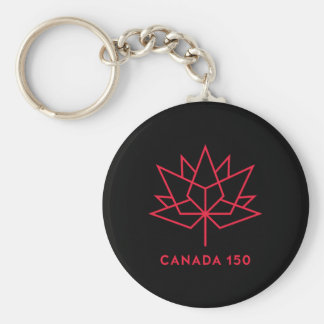 Canada 150 Official Logo - Black and Red Keychain