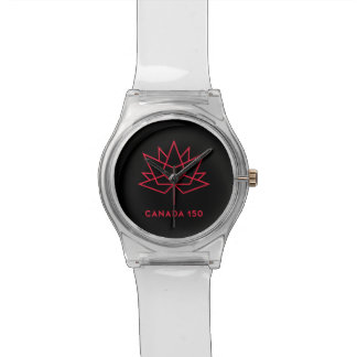 Canada 150 Official Logo - Black and Red Watch