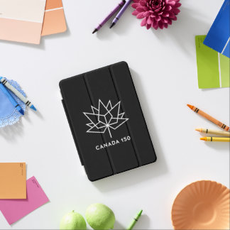Canada 150 Official Logo - Black and White iPad Mini Cover