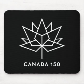 Canada 150 Official Logo - Black and White Mouse Pad