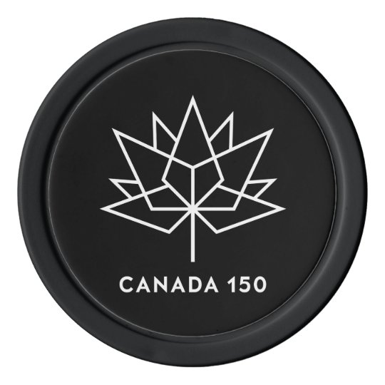 Canada 150 Official Logo - Black and White Poker Chips