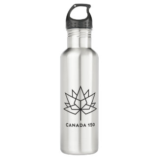 Canada 150 Official Logo - Black Outline 710 Ml Water Bottle
