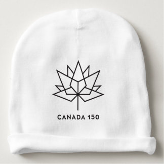 Canada 150 Official Logo - Black Outline Baby Beanie