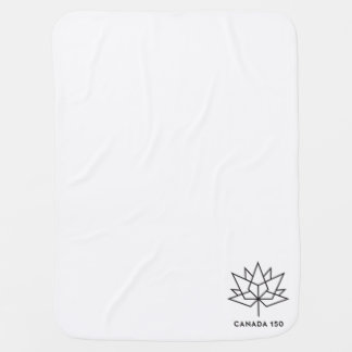 Canada 150 Official Logo - Black Outline Baby Blanket