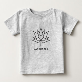 Canada 150 Official Logo - Black Outline Baby T-Shirt