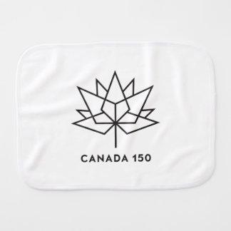 Canada 150 Official Logo - Black Outline Burp Cloth
