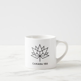 Canada 150 Official Logo - Black Outline Espresso Cup