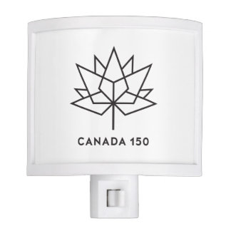 Canada 150 Official Logo - Black Outline Nite Light