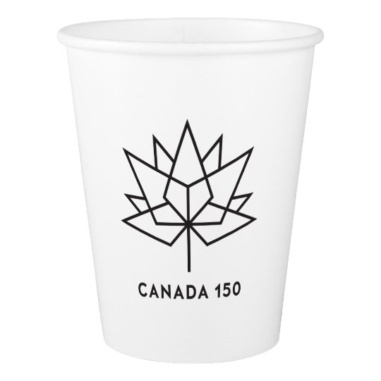 Canada 150 Official Logo - Black Outline Paper Cup