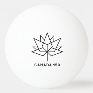 Canada 150 Official Logo - Black Outline Ping Pong Ball