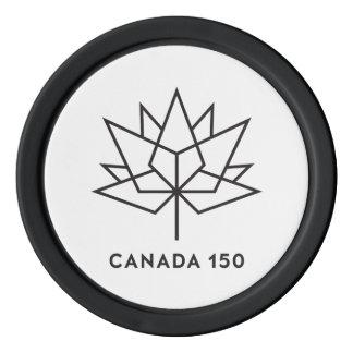Canada 150 Official Logo - Black Outline Poker Chips