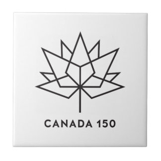 Canada 150 Official Logo - Black Outline Tile