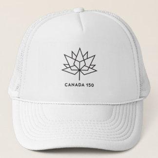 Canada 150 Official Logo - Black Outline Trucker Hat