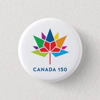 Canada 150 Official Logo - Multicolor 1 Inch Round Button