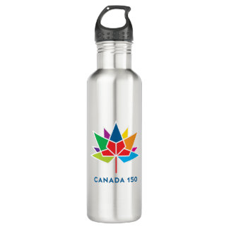 Canada 150 Official Logo - Multicolor 710 Ml Water Bottle