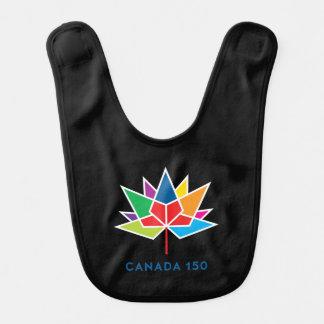 Canada 150 Official Logo - Multicolor and Black Bib
