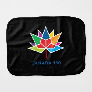 Canada 150 Official Logo - Multicolor and Black Burp Cloth