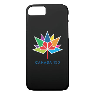 Canada 150 Official Logo - Multicolor and Black iPhone 8/7 Case