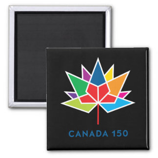 Canada 150 Official Logo - Multicolor and Black Magnet