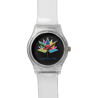 Canada 150 Official Logo - Multicolor and Black Wrist Watch