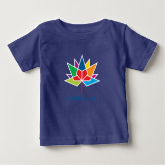 Canada 150 Official Logo - Multicolor and Blue Baby T-Shirt
