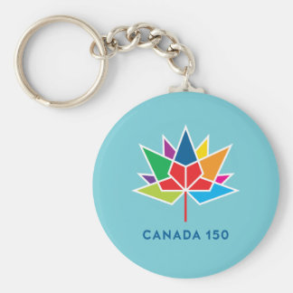 Canada 150 Official Logo - Multicolor and Blue Keychain