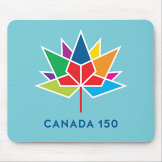 Canada 150 Official Logo - Multicolor and Blue Mouse Pad