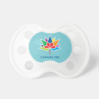 Canada 150 Official Logo - Multicolor and Blue Pacifier