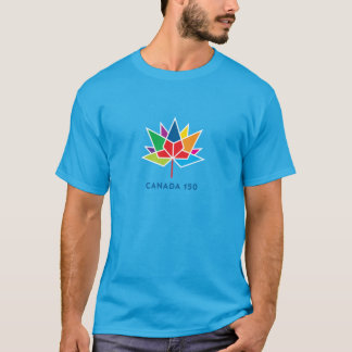 Canada 150 Official Logo - Multicolor and Blue T-Shirt