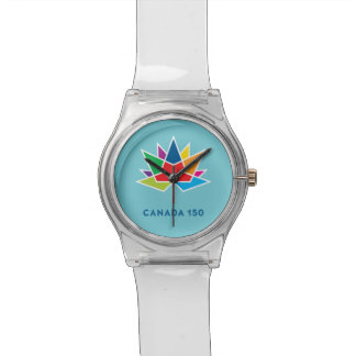 Canada 150 Official Logo - Multicolor and Blue Watch