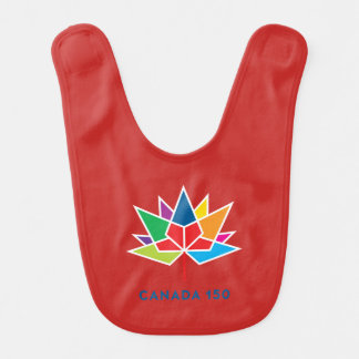 Canada 150 Official Logo - Multicolor and Red Bib