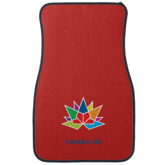 Canada 150 Official Logo - Multicolor and Red Car Mat