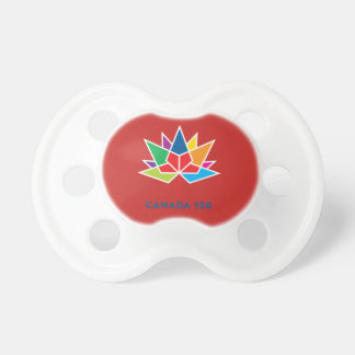 Canada 150 Official Logo - Multicolor and Red Pacifier