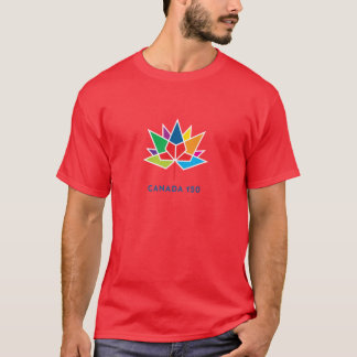 Canada 150 Official Logo - Multicolor and Red T-Shirt