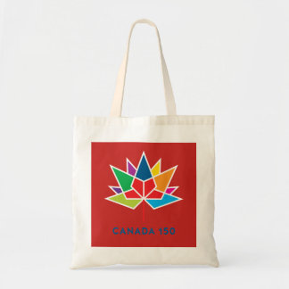 Canada 150 Official Logo - Multicolor and Red Tote Bag