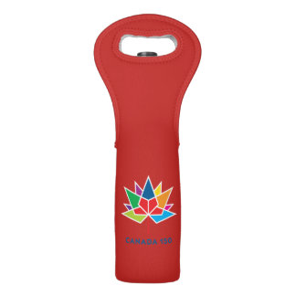 Canada 150 Official Logo - Multicolor and Red Wine Bag