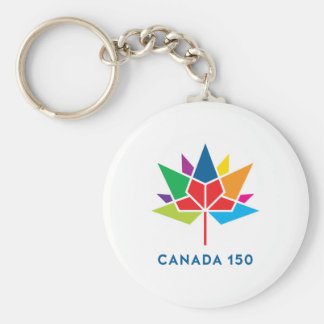 Canada 150 Official Logo - Multicolor Basic Round Button Keychain